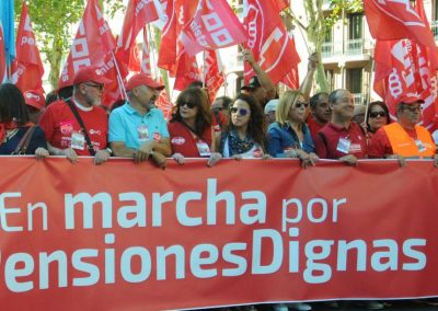 A recent protest of Spanish pensioners